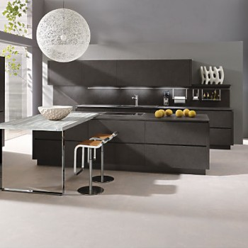 alno star dur steinstruktur k che mit elektroger ten und. Black Bedroom Furniture Sets. Home Design Ideas
