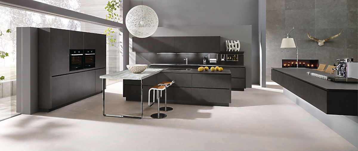 alno star dur steinstruktur k che mit elektroger ten und einbausp le deine. Black Bedroom Furniture Sets. Home Design Ideas