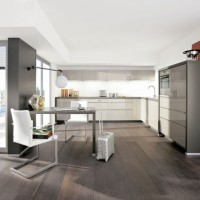alno gloss hochglanz k che mit elektroger ten und. Black Bedroom Furniture Sets. Home Design Ideas
